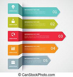 minimalistic, moderní, prapor, infographics