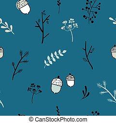 Minimalistic nature seamless pattern