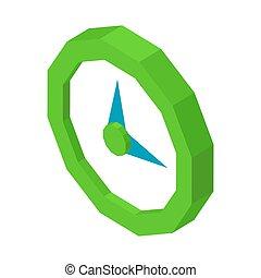 Minimalistic round wall clock icon isolated 3D illustration