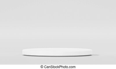 Minimalistic showcase with empty space in modern futuristic style on white background 3d illustration render