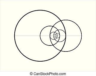 Minimalistic style design. Golden ratio. Geometric shapes....