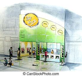 minimart, 方便, 商店, 打開, 24-7, 鄰居, 商店