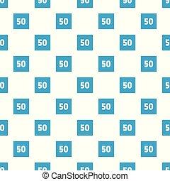 Minimum speed fifty limit pattern seamless