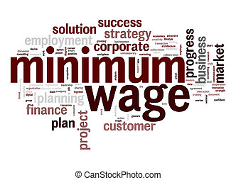 Minimum wage word cloud