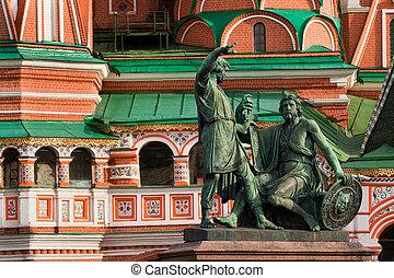 minin, pozharsky, monumento
