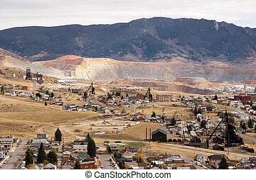 Mining Activities Equipment Houses Walkerville Butte Montana...