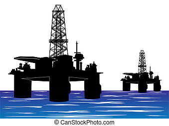 Oil drilling rigs - Mining and quarrying. Oil drilling rigs.