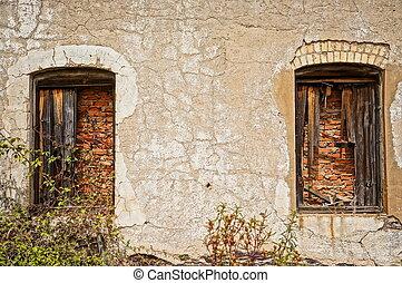 mining area, facade with windows
