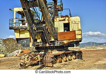 mining big machines backhoe