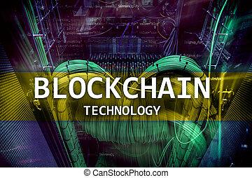 mining., blockchain, serveur, cryptocurrency, technologie, données, salle