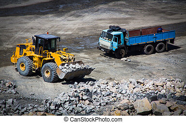 Mining careers with industrial car