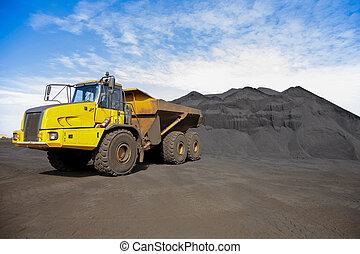 Mining Dump Truck transporting Manganese for processing
