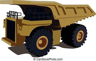 mining dump truck vector illustration