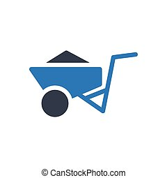 mining  glyph color icon