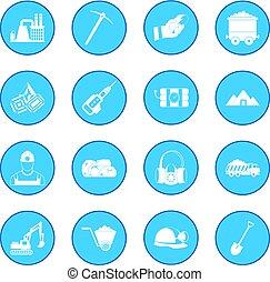 Mining icon blue