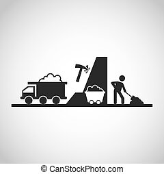 mining industry concept icon