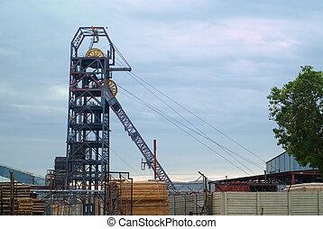 Mining mine headgear