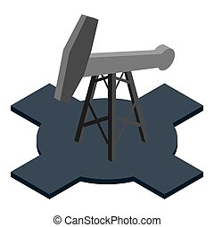 Mining oil icon. Isometric illustration of mining oil icon for web