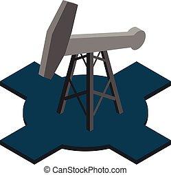 Mining oil icon, isometric style