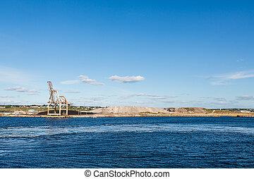 Mining Operation on Blue Coast