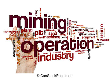 Mining operation word cloud
