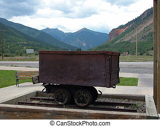 Mining Ore Car - Colorado - This mining ore car is on...
