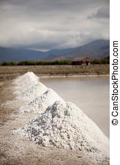 Mining salt