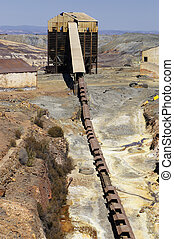 mining., történelmi, terület