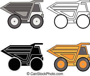 Mining tipper truck. Vector illustration.