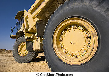 Mining truck - Background: Big mining truck at worksite