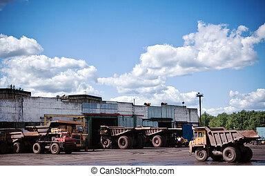 Mining trucks garage