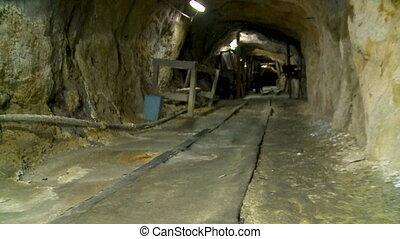 Mining Tunnel At El Socavon Museum, Oruro, Bolivia -...