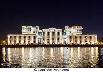ministère, de, défense, de, les, fédération russe, à, night.