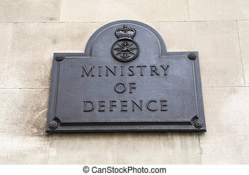 Ministry of Defence in London - A plaque on the Ministry of...