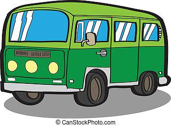 Minivan . Cartoon car