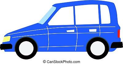minivan - vector, cartoon illustration of minivan