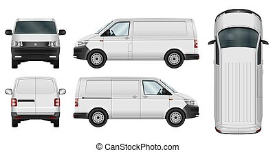 Minivan vector template