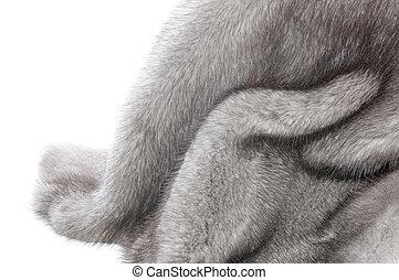 Mink Fur Over White