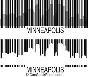 Minneapolis barcode - City of Minneapolis high rise...