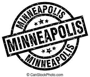 Minneapolis black round grunge stamp