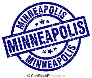 Minneapolis blue round grunge stamp