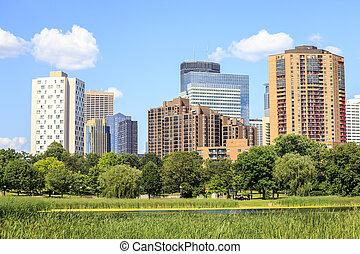 Minneapolis Downtown, Minnesota. - Skyscrapers of...