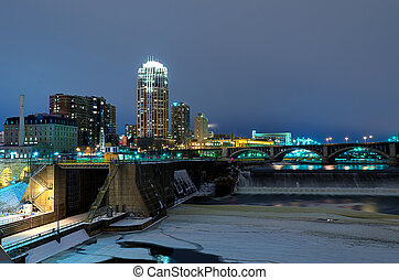 Minneapolis Minnesota at Night