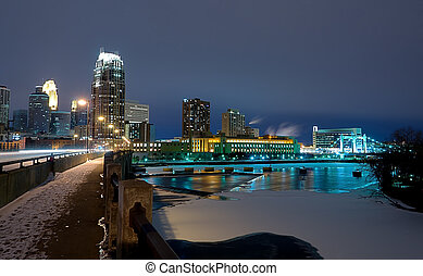 Minneapolis Minnesota at Night