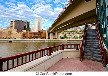 Minneapolis Minnesota - Downtown St Paul Minnesota from...