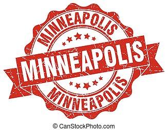 Minneapolis round ribbon seal