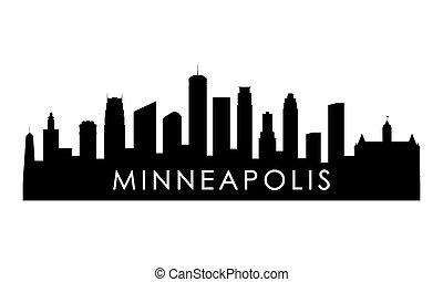 Minneapolis skyline silhouette.