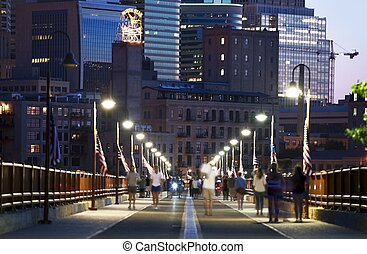 Minneapolis Stone Arch - Minneapolis From Stone Arch Bridge....