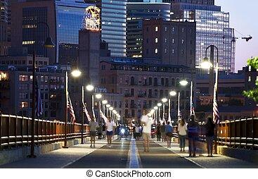 Minneapolis Stone Arch - Minneapolis From Stone Arch Bridge...