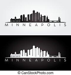 Minneapolis USA skyline.